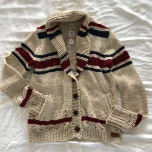 Unique Boho varsity style sweater